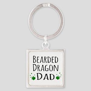 Bearded Dragon Dad Keychains