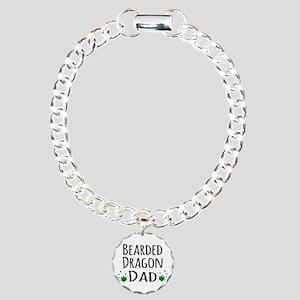 Bearded Dragon Dad Charm Bracelet, One Charm