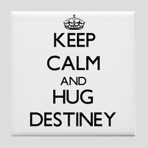 Keep Calm and HUG Destiney Tile Coaster