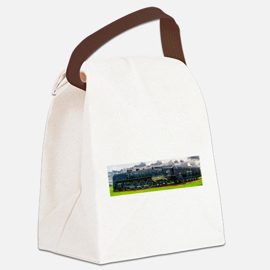Locomotive Panorama Canvas Lunch Bag