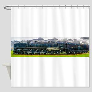Locomotive Panorama Shower Curtain