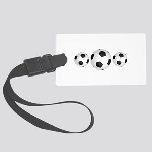 Soccer BAlls Large Luggage Tag