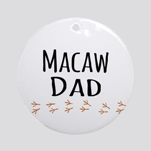 Macaw Dad Ornament (Round)