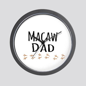 Macaw Dad Wall Clock