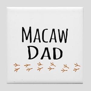 Macaw Dad Tile Coaster