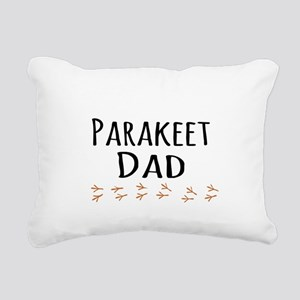 Parakeet Dad Rectangular Canvas Pillow
