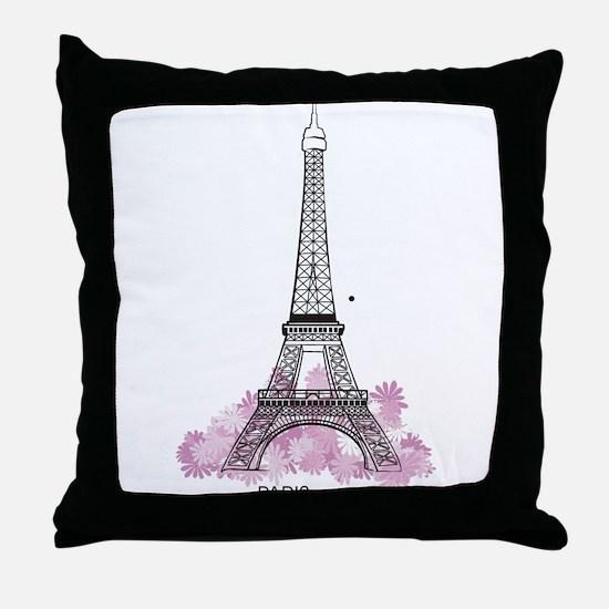 Eiffel Paris Throw Pillow