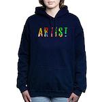 Artist-paint splatter Hooded Sweatshirt