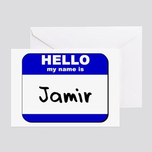 hello my name is jamir  Greeting Cards (Package of