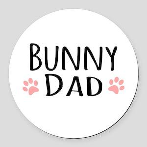 Bunny Dad Round Car Magnet