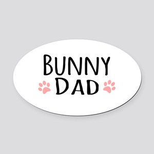 Bunny Dad Oval Car Magnet