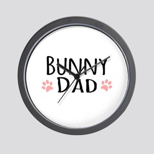 Bunny Dad Wall Clock