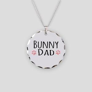 Bunny Dad Necklace Circle Charm