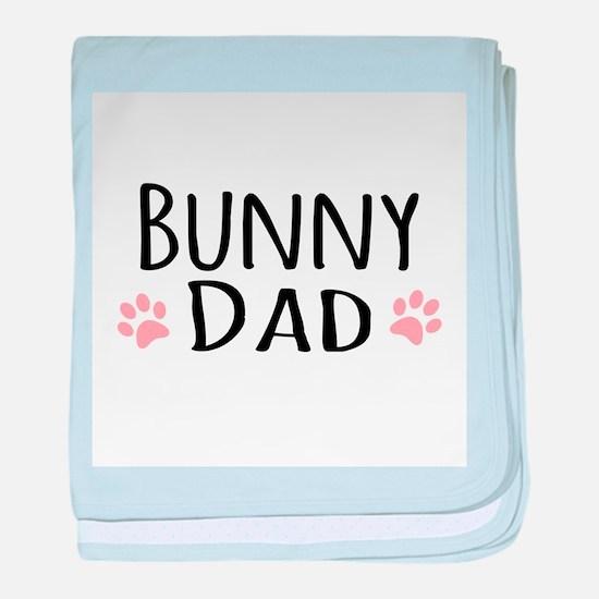 Bunny Dad baby blanket