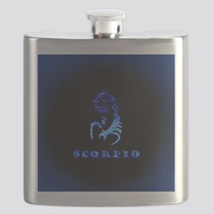 Scorpio Zodiac Symbol Flask