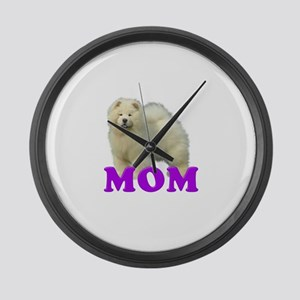 Chow Mom Large Wall Clock