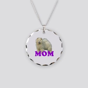 Chow Mom Necklace Circle Charm