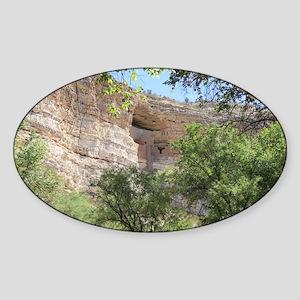 Montezuma's Castle Sticker (Oval)