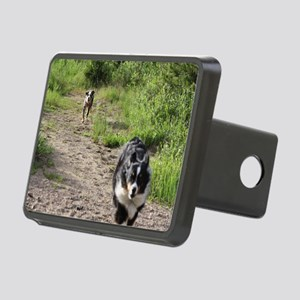 Yipee  dogs running Rectangular Hitch Cover