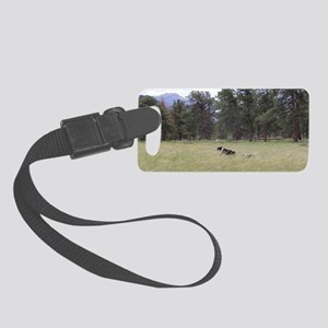 Aussies Running Small Luggage Tag