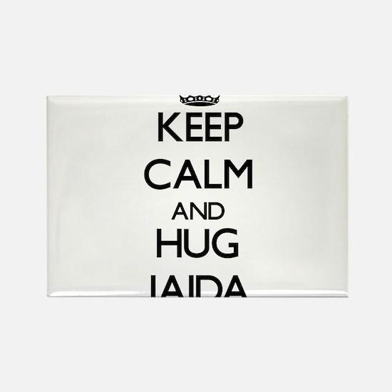 Keep Calm and HUG Jaida Magnets