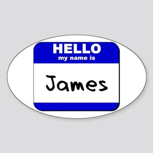 hello my name is james Oval Sticker