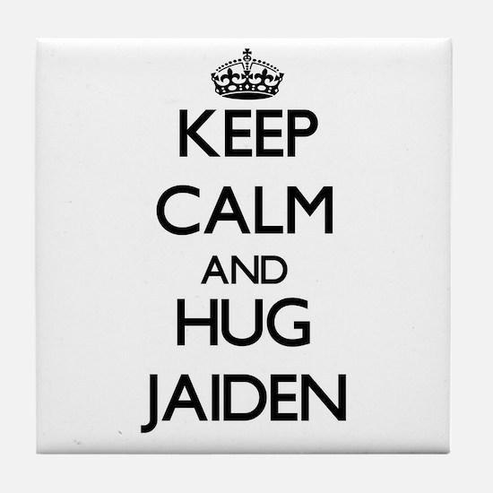 Keep Calm and HUG Jaiden Tile Coaster