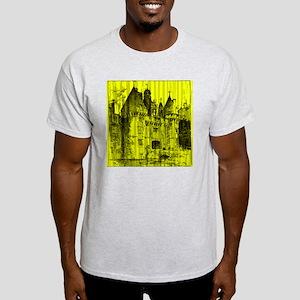 Yellow Vintage Castle Light T-Shirt