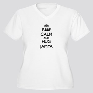 Keep Calm and HUG Jamya Plus Size T-Shirt