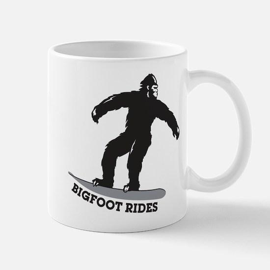 Bigfoot Rides Snowboard Mug