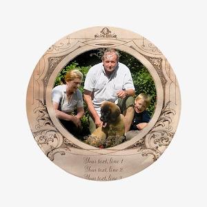 "Personalizable Edwardian Photo Frame 3.5"" Button"