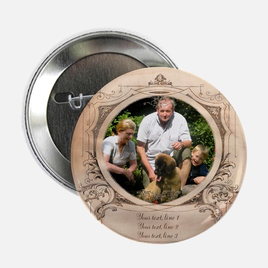 "Personalizable Edwardian Photo Frame 2.25"" Button"