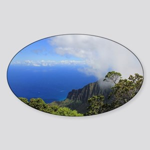 Napoli Coast, Kauai, HI Sticker (Oval)