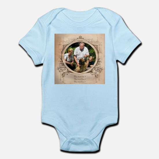 Personalizable Edwardian Photo Frame Infant Bodysu