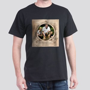 Personalizable Edwardian Photo Frame Dark T-Shirt