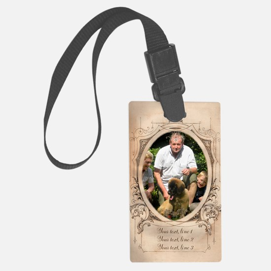 Personalizable Edwardian Photo Frame Luggage Tag