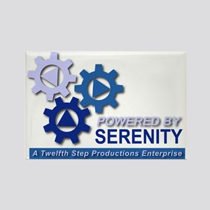 Powered by Serenity Rectangle Magnet