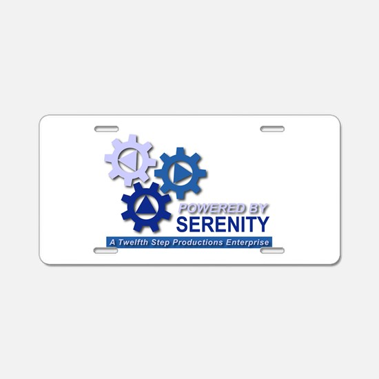 Powered by Serenity Aluminum License Plate