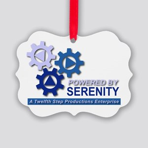 Powered by Serenity Picture Ornament