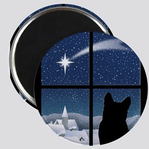 Silent Night Christmas Magnets