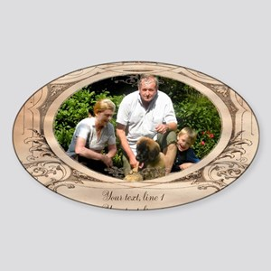 Personalizable Edwardian Photo Frame Sticker (Oval