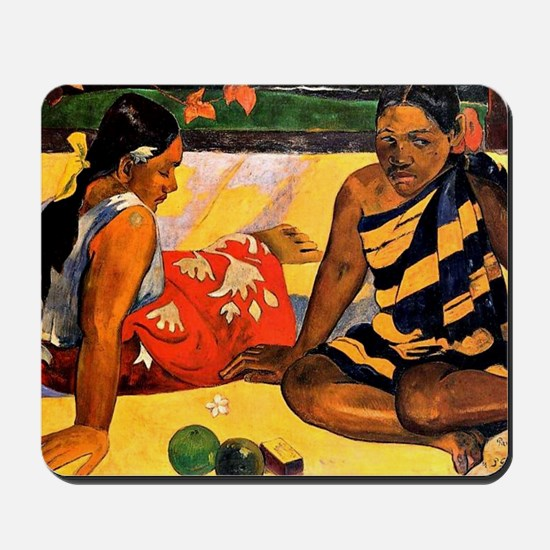 Gauguin - What's New. Painting by Paul G Mousepad