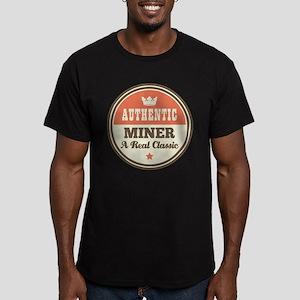 Miner Vintage Men's Fitted T-Shirt (dark)