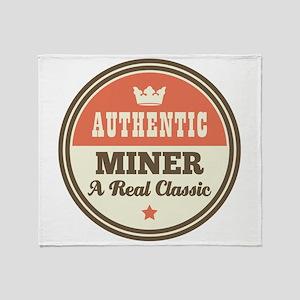 Miner Vintage Throw Blanket