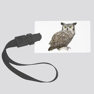 Owl Large Luggage Tag