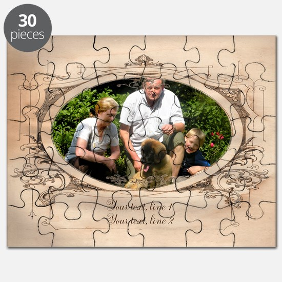 Personalizable Edwardian Photo Frame Puzzle