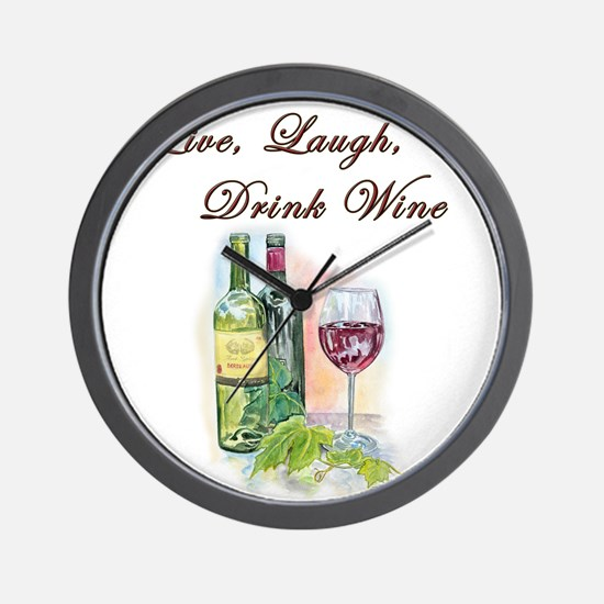 Live Laugh Wine Wall Clock