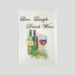 Live Laugh Wine Magnets