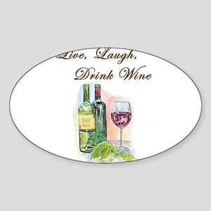Live Laugh Wine Sticker