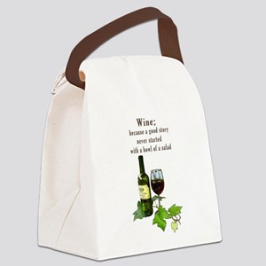 Wine Story Canvas Lunch Bag